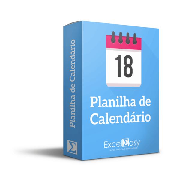Planilha Calendário no Excel - Agenda, calendário, compromissos