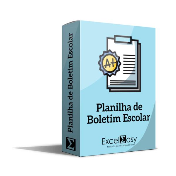 Planilha de Boletim Escolar Editável