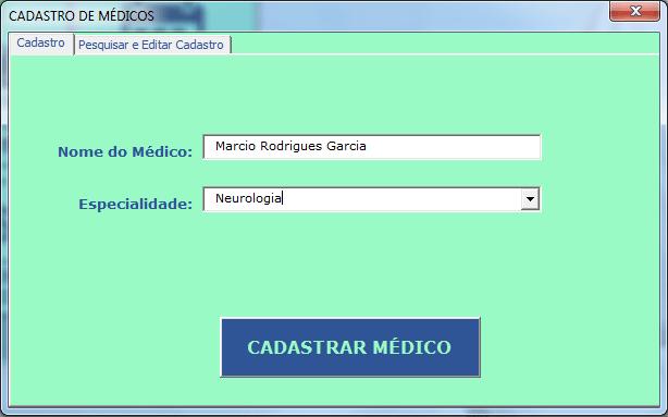 Registrar médicos