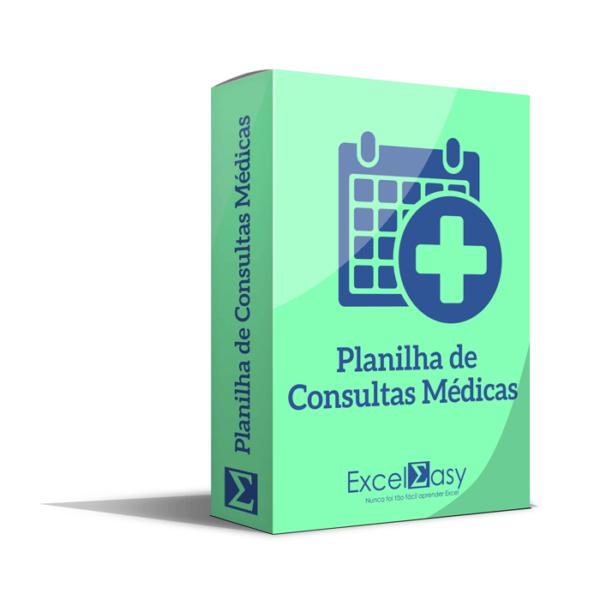 Planilha de Consultas médicas no Excel